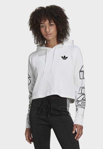 CROPPED HOODIE - Sweatshirt - white