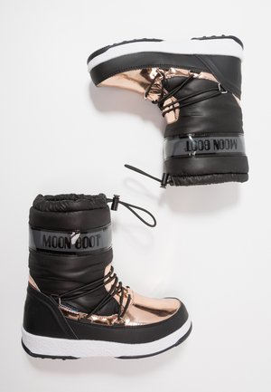 GIRL SOFT WP - Winter boots - black/copper