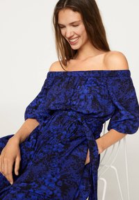 OYSHO - OFF-THE-SHOULDER TWO-TONE DRESS 31998115 - Day dress - blue - 2