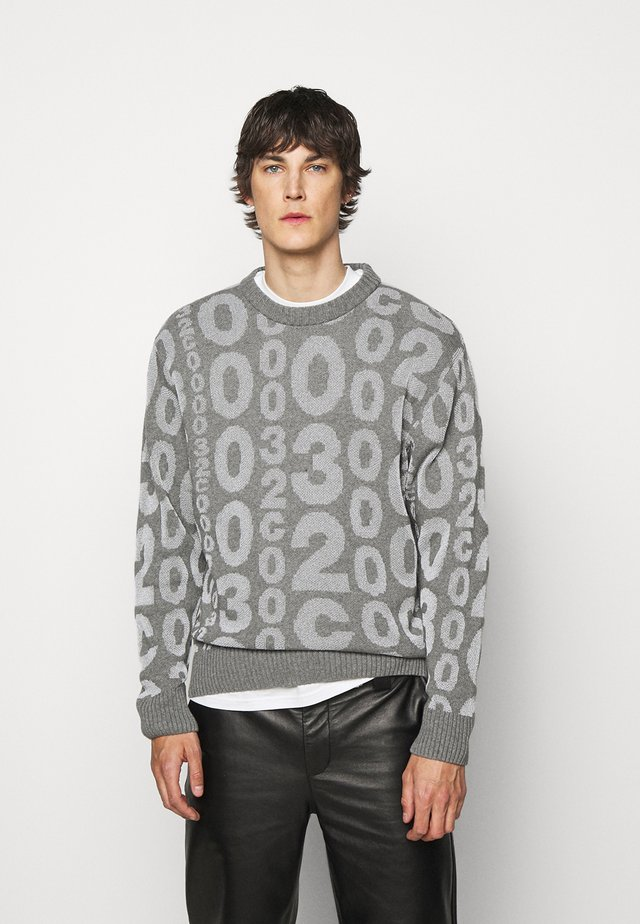 ALLOVER LOGO REFLECTIVE - Maglione - grey