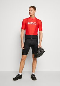 POC - PURE BIB SHORTS - Tights - uranium black/uranium black