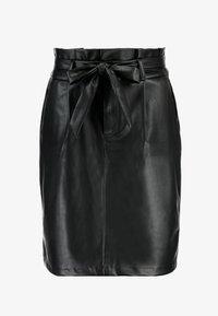 Vero Moda - VMEVA PAPERBAG SHORT SKIRT - Mini skirt - black - 4