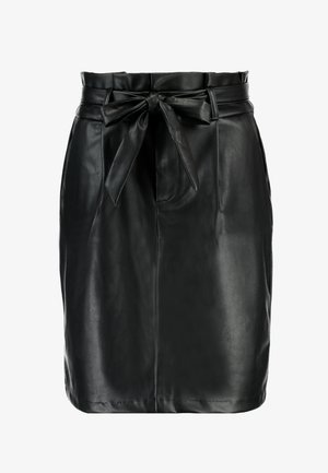 VMEVA PAPERBAG SHORT SKIRT - Miniskjørt - black