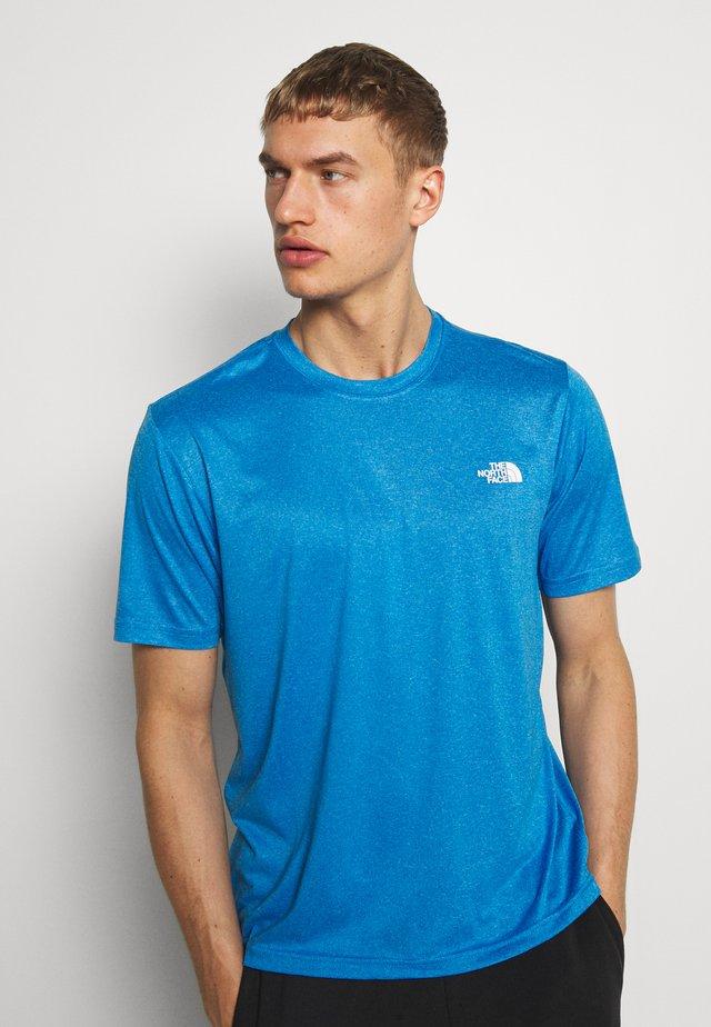 MENS REAXION AMP CREW - T-shirt basic - clear lake blue heather