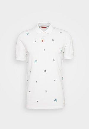 CHARMS  - Koszulka polo - white/obsidian/neptune green