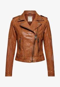 Esprit - Leather jacket - toffee - 7