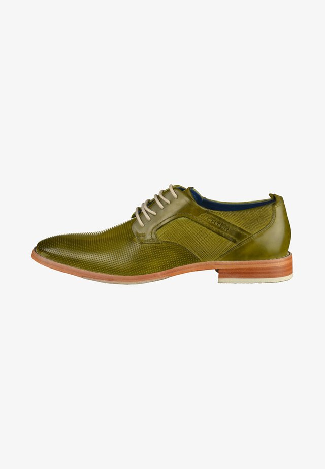 Smart lace-ups - light green
