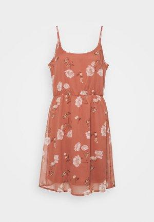 VMMELLIE SINGLET SHORT DRESS - Vestito di maglina - marsala/mellie