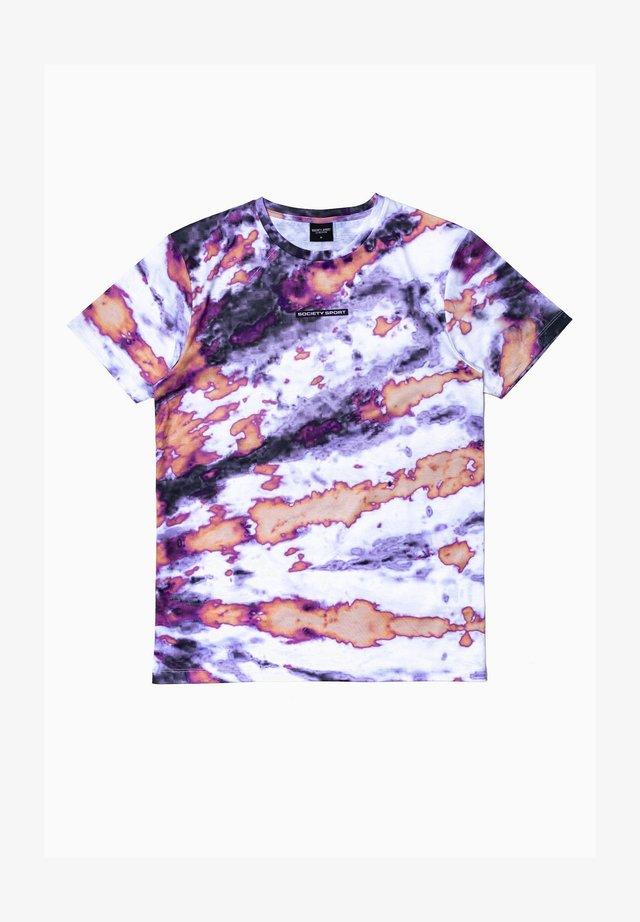 Print T-shirt - white/purple
