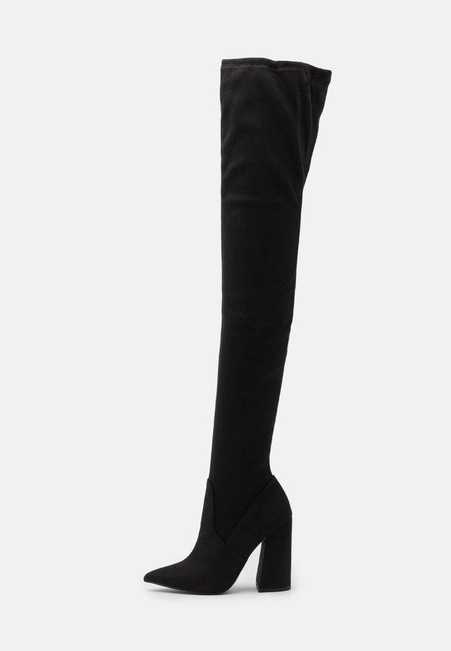 SOMMER - Boots med høye hæler - black