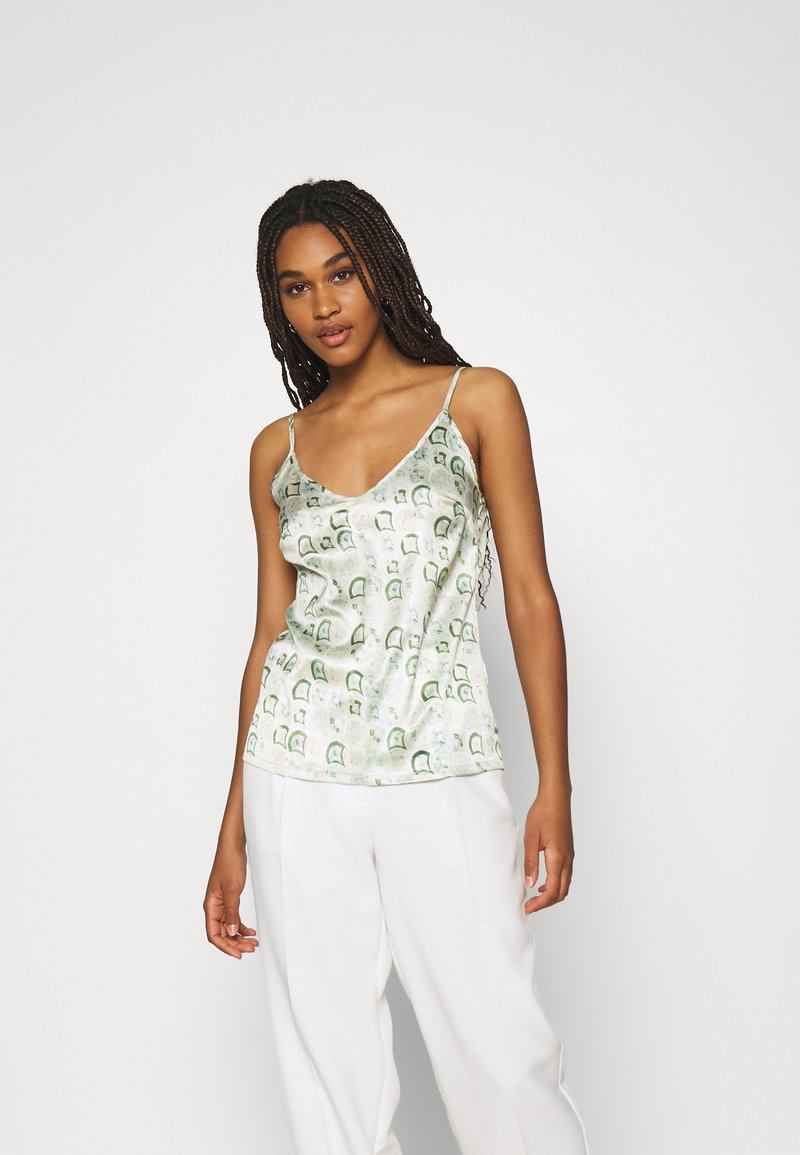 Never Fully Dressed - MARBLE PRINT CAMI - Top - green
