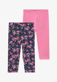 Blue Seven - CAPRI 2 PACK - Leggings - Trousers - dark blue/pink - 3