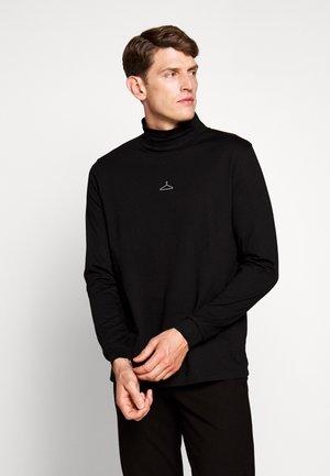 HANGER ROLLNECK CENTER LOGO - Long sleeved top - black