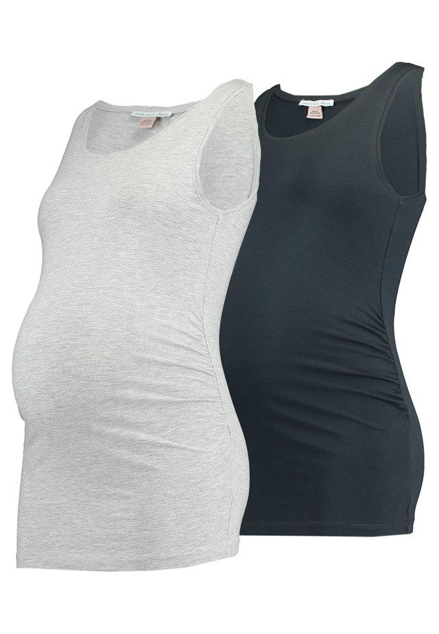 2 PACK - Débardeur - light grey/navypeacoat