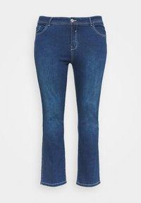 Evans - MIDWASH SHORT LENGTH - Jeans straight leg - blue - 0