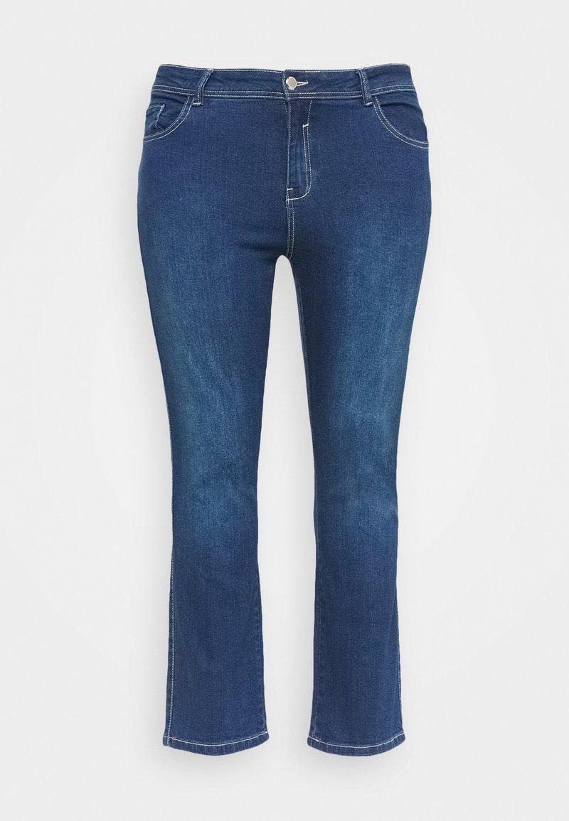 Evans - MIDWASH SHORT LENGTH - Jeans straight leg - blue