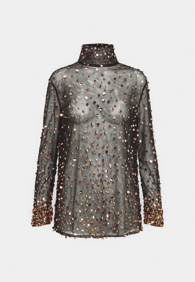 THEA - Blouse - washed black/rose gold