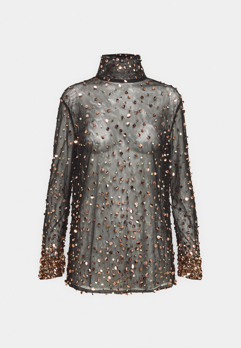 MANÉ - THEA - Blouse - washed black/rose gold