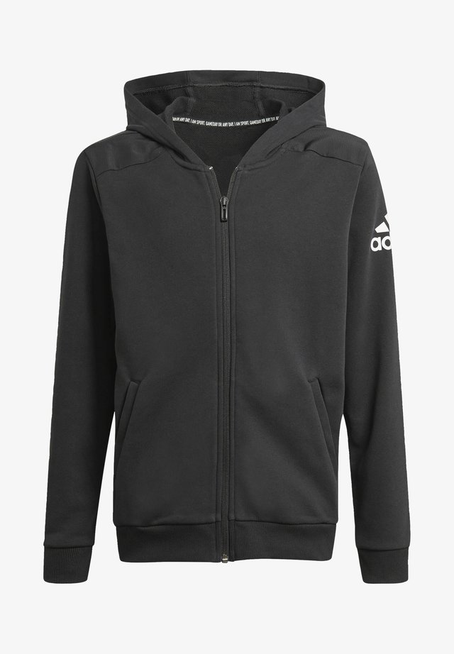 LOGO FULL-ZIP HOODIE - Zip-up hoodie - black