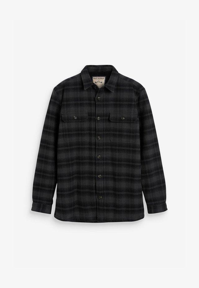 CHECK BORG TWIN POCKET SHACKET - Košile - grey
