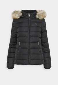 Tommy Jeans - ESSENTIAL HOODED - Kurtka zimowa - black - 6