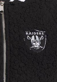 New Era - NFL OAKLAND RAIDERS TRACK JACKET - Club wear - black - 5