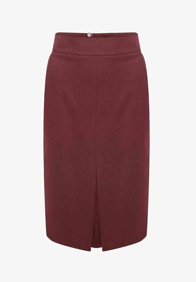 ELLY  - Pencil skirt - weinrot