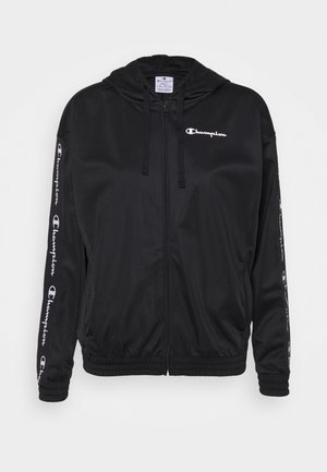 HOODED FULL ZIP - Chaqueta de entrenamiento - black