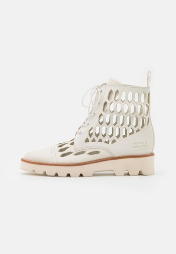 SELINA 51 - Lace-up ankle boots - white/natural/offwhite