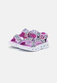 Skechers - HEART LIGHTS - Sandals - white/multicolor - 1
