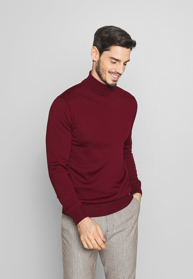 KONRAD ROLL NECK - Jersey de punto - wine red