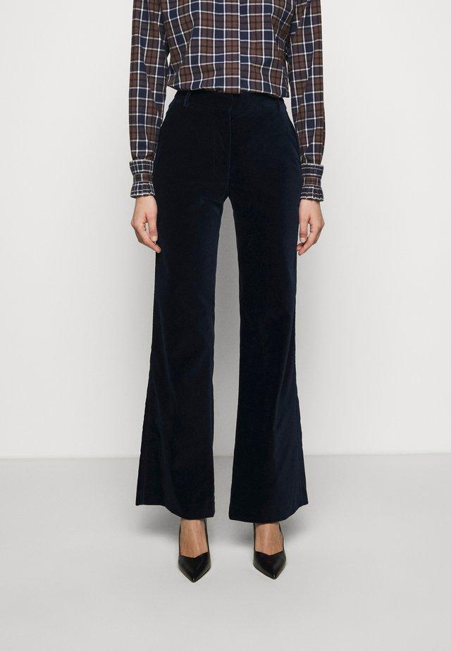 HIGH WAISTED FLARE TROUSER - Pantalon classique - navy