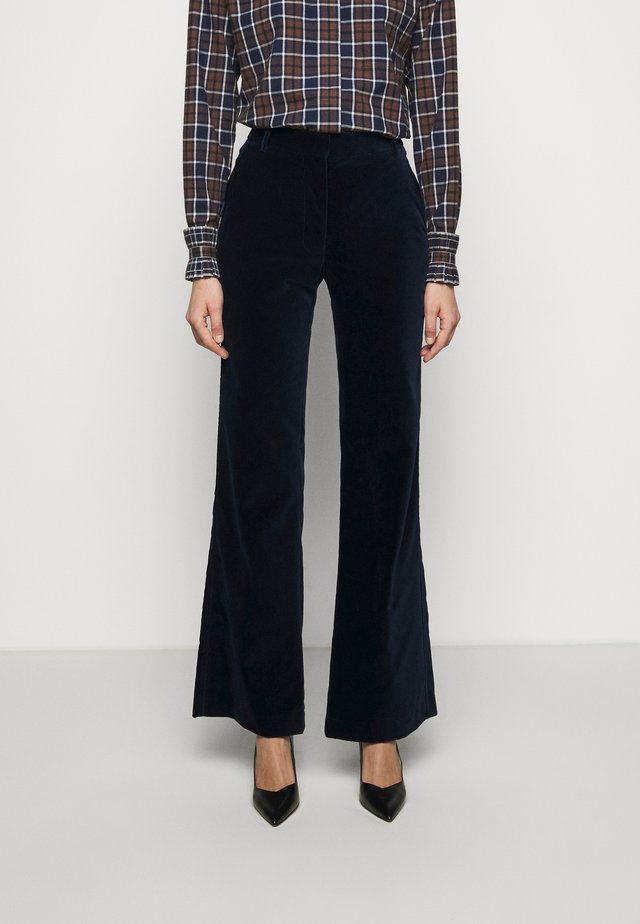 HIGH WAISTED FLARE TROUSER - Pantalones - navy