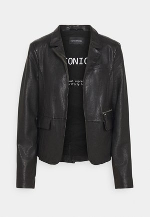 RESET - Kožená bunda - black