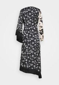 Mother of Pearl - WRAP DRESS WITH TASSEL TRIM - Maxi dress - black/ivory - 1