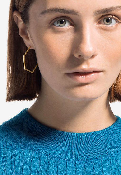 QOOQI - Earrings - gold-coloured