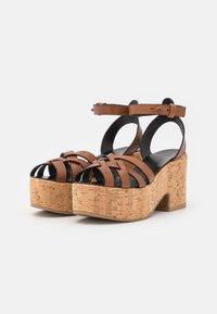 WEEKEND MaxMara - RITO - Platform sandals - kamel - 2