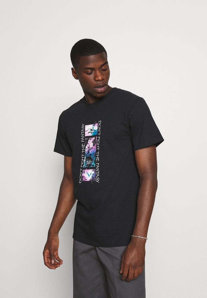 HUF - NATURAL HIGH TEE - Print T-shirt - black
