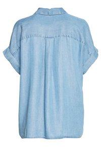 mine to five TOM TAILOR - BLOUSE LOOSE FIT - Button-down blouse - blue denim - 1