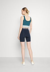Nike Performance - SHORT HI RISE - Collants - obsidian/white - 2