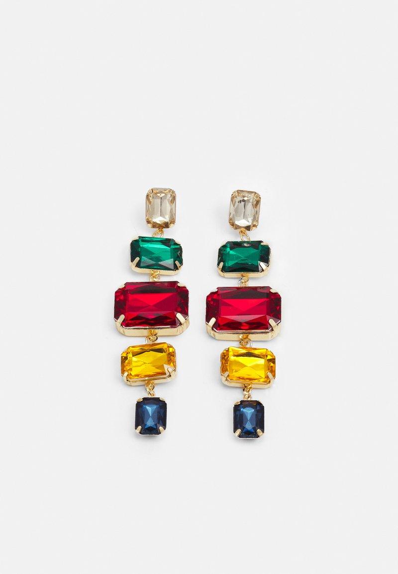 Pieces - PCRYSTAL EARRINGS - Earrings - gold-coloured/multi