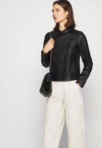 Oakwood - HARMONY - Leather jacket - black - 4