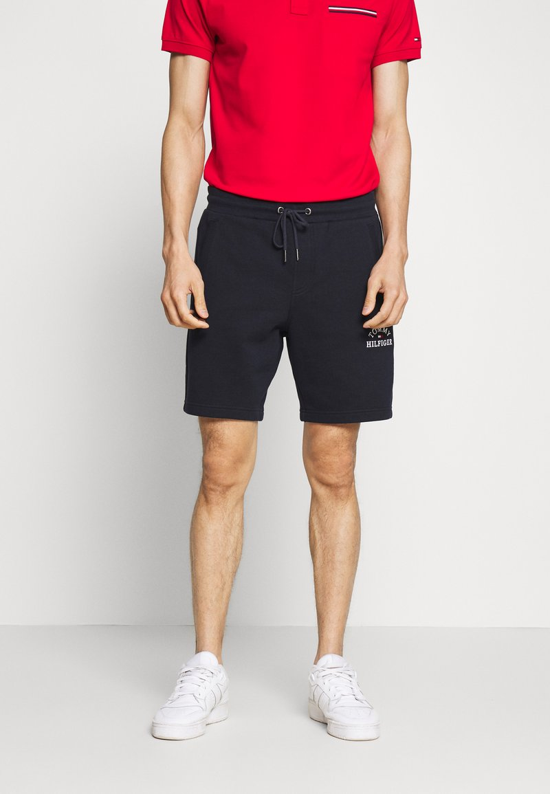 Tommy Hilfiger - BASIC EMBROIDERED  - Shorts - blue