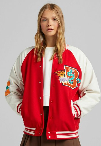VARSITY MIT PATCHES - Bomber Jacket - red