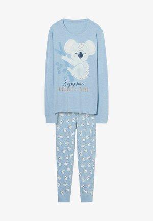 Pyjama set - light blue-melange
