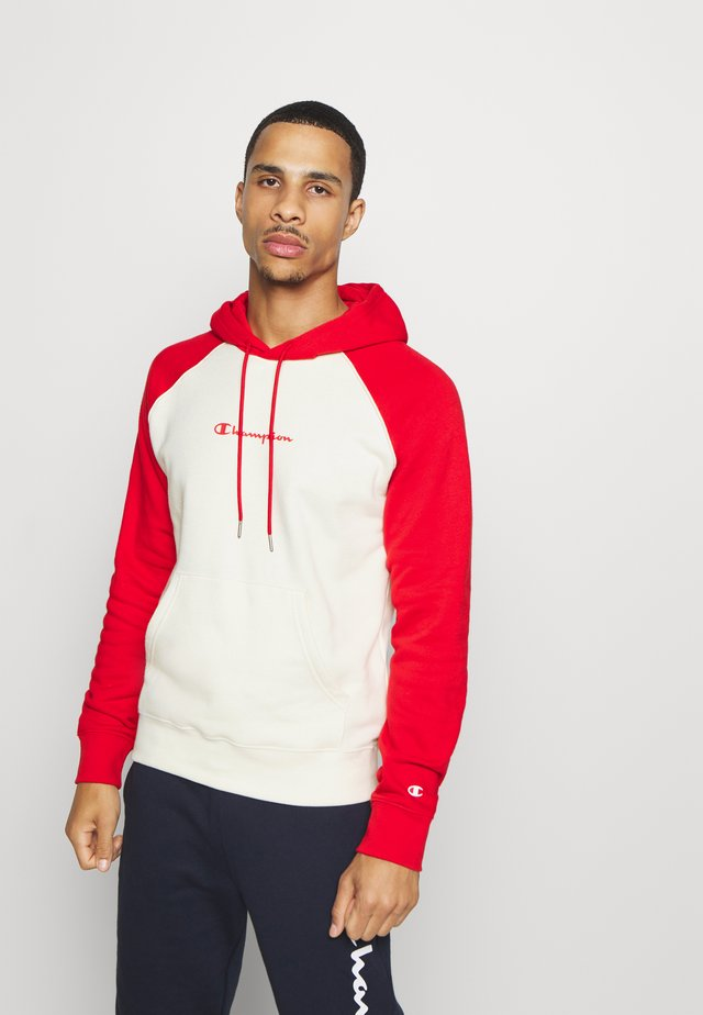 LEGACY CREAM&COLOR - Sweat à capuche - off-white/red
