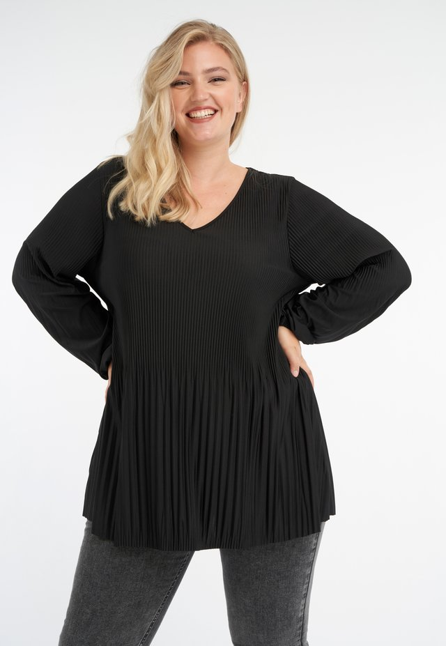 PLEATED - Tunic - black