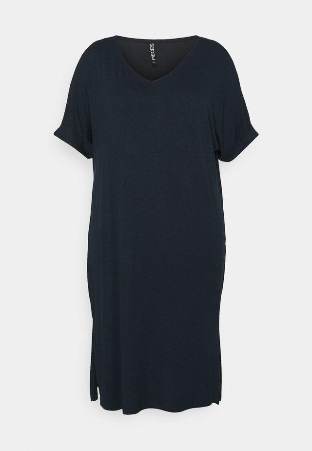 PCNEORA FOLD UP DRESS - Sukienka z dżerseju - sky captain