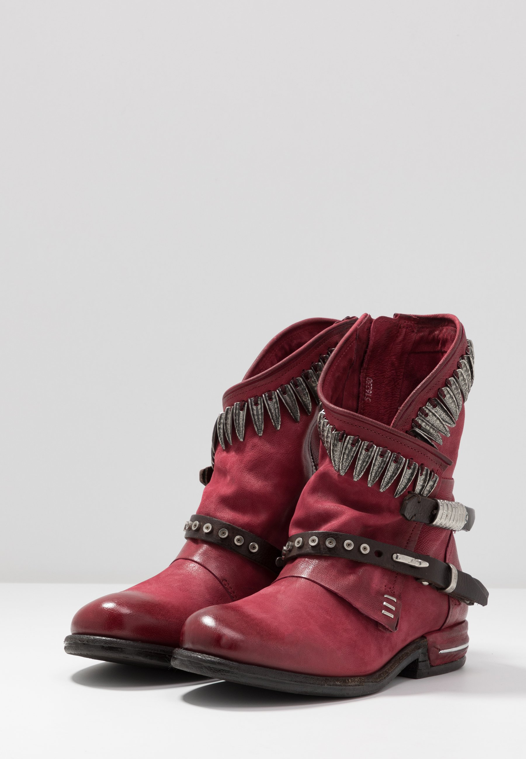 A.s.98 Cowboy- / Bikerstøvlette - Cardinal/testa Di Moro