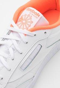 Reebok Classic - CLUB C 85 - Trainers - white/solar orange - 5